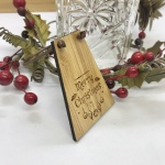 Beer Bottle Tag Drinks Plaque in Bamboo ''Merry Christmas'' Personalised with your own words
