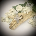 Cremation Ashes Urn Cross Shaped for keepsake, necklace or bracelet personalised with your own words or design