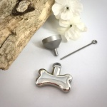 Cremation Ashes Urn Dog Bone Shaped for Pet keepsake, necklace or bracelet personalised with your own words or design
