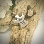 Cremation Ashes Urn Guardian Angel Shaped for keepsake, necklace or bracelet personalised with your own words or design