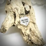 Cremation Ashes Urn Heart Shaped Small for keepsake, necklace or bracelet personalised with your own words or design