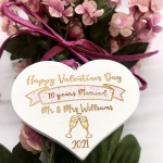 Gift tag for Years Married Valentines Day 2021 personalised with names and years married beautiful addition to your Valentines gift