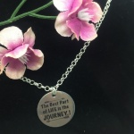 Personalised Sterling Silver Women's Necklace BOXER<br>Handmade with Sterling Silver Belcher Chain add Personalised Disc
