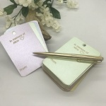 Personalised Note-lets for Remembering a loved one in 4 lovely pastel pearlised colours