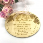Retirement Celebrations Plaque Keepsake in Solid Maple Wood Personalised with your own words