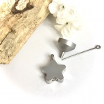Cremation Ashes Urn Star Shaped Pendent for keepsake, necklace or bracelet personalised with your own words or design