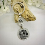 Personalised Keyring with Silver Sparkle Bead Design - I STILL FALL IN LOVE WITH YOU EVERYDAY