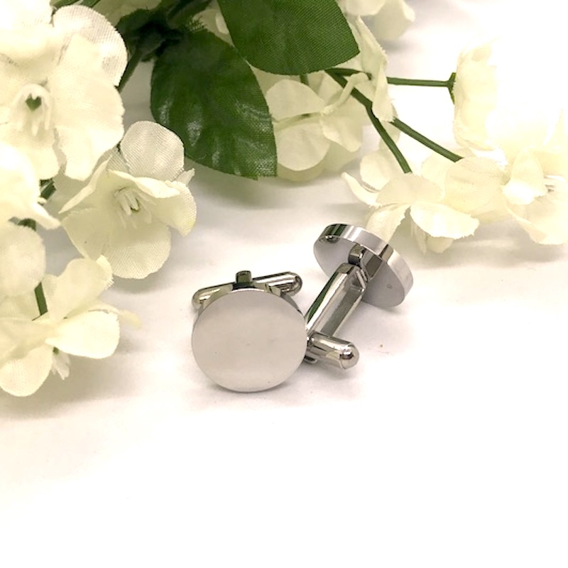 Round Shaped Cufflinks personalised with your own words...