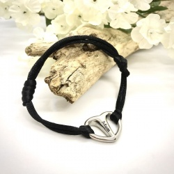 Cremation Ashes Urn Bracelet Rope Style with Heart connector personalised with your own words or design