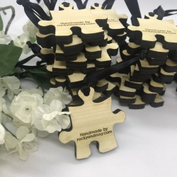 Keepsakes Personalised Solid Wood Jigsaw Pieces Keepsakes for Remembering loved ones BOTH sides engraved