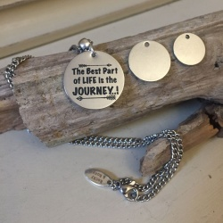 Personalised Stainless Steel Mens Necklace AKITA<br>Handmade with Stainless Steel Curb Chain add Personalised Disc