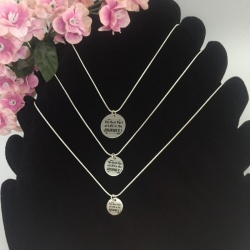 Personalised Silver Plated Women's Necklace PODENCO<br>Handmade with Silver Plated Round Snake Chain add Personalised Disc