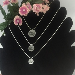 Personalised Sterling Silver Women's Necklace IBIZAN HOUND<br>Handmade with Sterling Silver Round Snake Chain add Personalised Disc