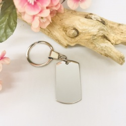 Personalised Rectangular Shape Keyring BLANK for your own MESSAGE