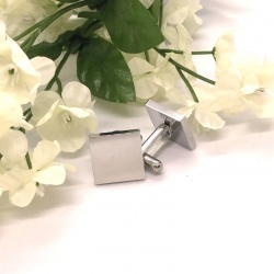 Square Shaped Cufflinks personalised with your own words..