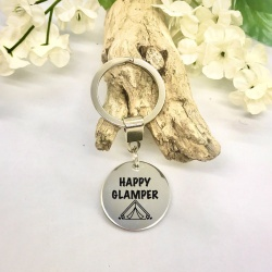 Personalised Key Ring HAPPY GLAMPER